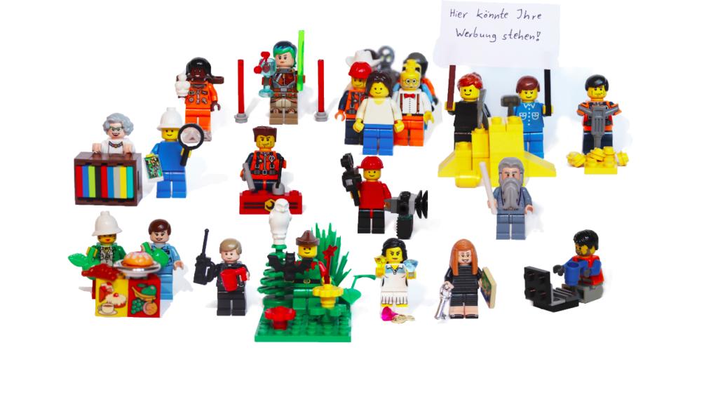 Ein paar Legofiguren, die die verschiedenen Orgamitglieder darstellen sollen.